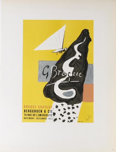 Braque Graveur - Lithographie 1953