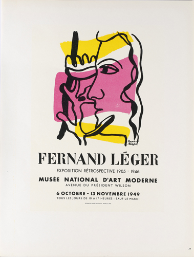 Fernand Leger - Lithographie 1954