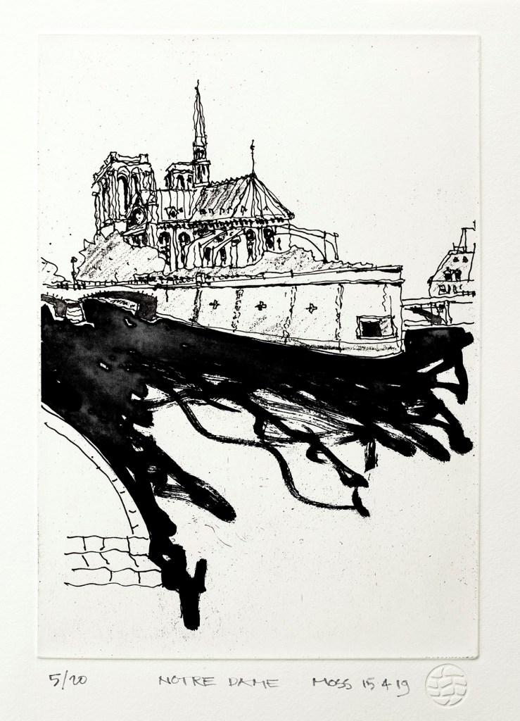 (A) Notre Dame by Rodney Moss UNFRAMED