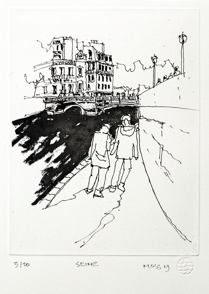(A) Seine by Rodney Moss UNFRAMED