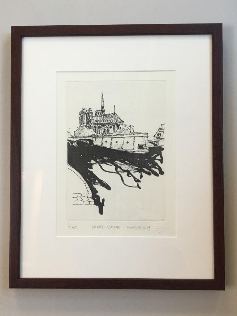(B) Notre Dame by Rodney Moss FRAMED